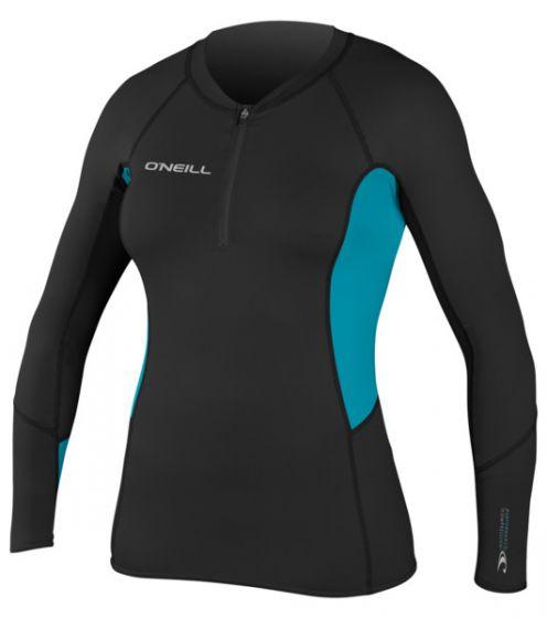 O'Neill Womens O'Zone Comp L/S Crew Rash Vest