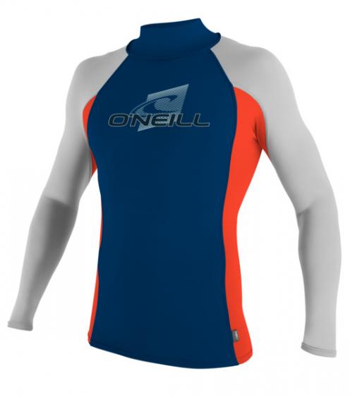 O'Neill Skins Turtleneck LS Rash Vest 2016 - Blue/Red