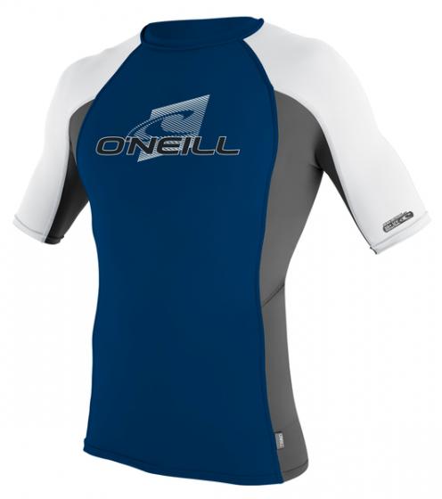 O´Neill Skins Mens UV Protection Rash Vest 2017 - Blue/Grey