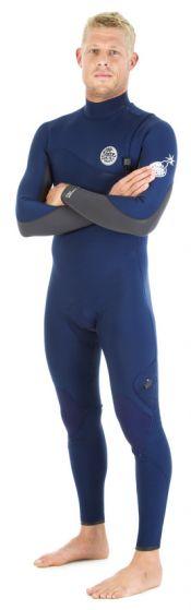 Rip Curl Flash Bomb 5/3mm Zipperless Mens Winter Wetsuit 2016 - Navy