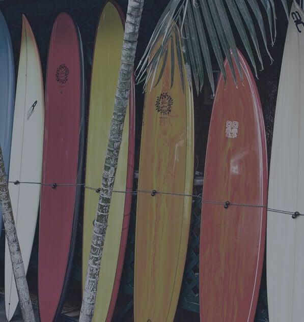 Resting longboard surfboards